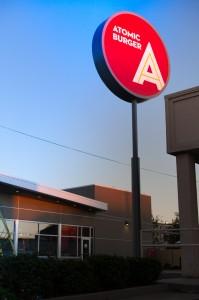 Atomic Burger Signage